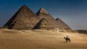 AFRICA – EGYPT – GIZEH PYRAMIDS POSTCARD