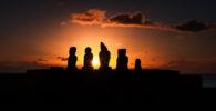 POLYNESIA – RAPA NUI – SUNSET SILHOUETTES